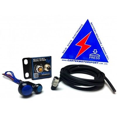 Cartek XR Solid State Battery Isolator Kit For Rally/Race Car ECU- Blue Switches