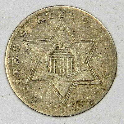 1857 Three Cent 3C Silver - Priced Right!