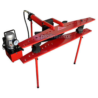"""Electric 21 Ton Hydraulic Tube Pipe Bender 370mm Stroke 9 Dies 1/2"""" to 4"""""""