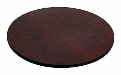 Flash Furniture 30'' Round Table Top with Black or Mahogany Reversible Laminate