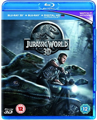 JURASSIC WORLD 2D/3D/UV BD  Blu-Ray NEW