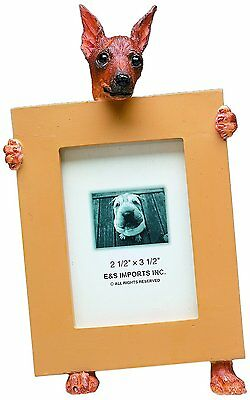 Miniature Pinscher Red Min Pin Dog Picture Photo Frame
