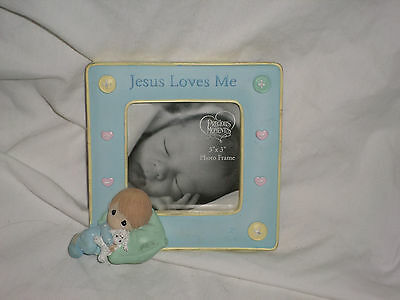Precious Moments Jesus Loves Me Picture Frame Baby 3 x 3 Frame