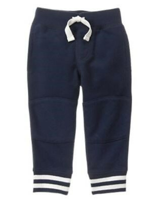 Gymboree Huddle Up Navy Rib Waist Quilted Knee Knit Sweatpants 2T 3T 4T Nwt