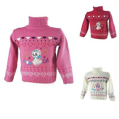 Girl Sweater Top Blouse Poloneck