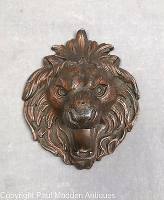 Antique Cast Lead Lion's Head Decoration
