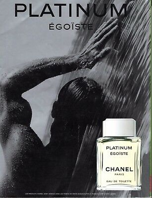 Publicite Presse Advertising  1998  CHANEL  Parfum PLATINUM Egoiste Homme