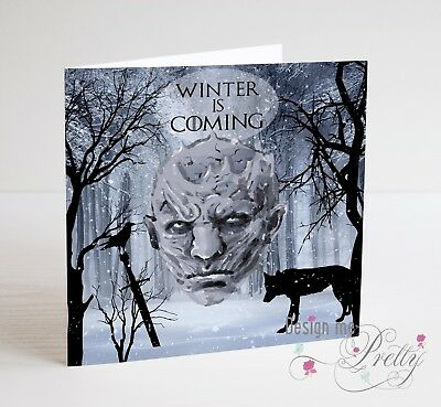GAME OF THRONES - WINTER IS COMING Birthday Card