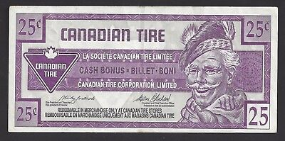 """""""VF"""" Canada Canadian Tire Money 25 Cents """"2013541173"""", #106-3"""