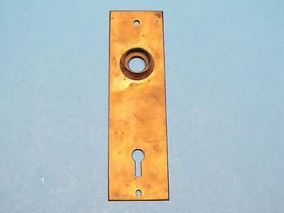 Antique Victorian Solid Brass Plate Eastlake Door Knob Backplate Back Plate