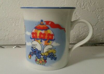SMURF Wallace Berrie & Co. Coffee Tea Cocoa Cup Mug Porcelain Vintage 1982