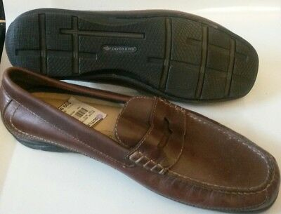 d10447e1e90 Dockers Colleague Slip-on Rubber Sole Penny Loafer Shoe brown 12m driving  new