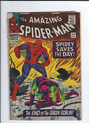 The Amazing Spider-Man #40 (Sep 1966, Marvel) good Green goblin Origin