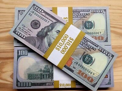 1 Bundle Brand New American Invalid $100 Hq Best Novelty Fake Paper Money Unc