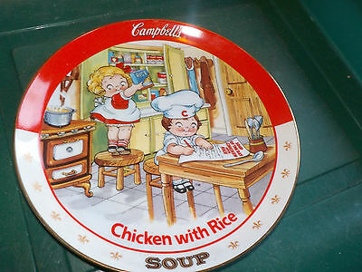 "Campbell's Soup Chicken With Rice Kids Plate  8.25"" No C8453 1994 Don't Foodvtg"