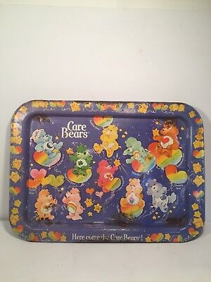 Care Bear Vintage Purple Metal TV Tray ~ Ships Fast!    N1