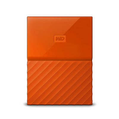 WD 2TB Orange My Passport  Portable External Hard Drive - USB 3.0 - WDBYFT0020BO