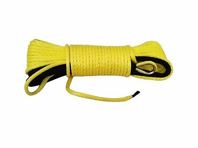 """Yellow 3/16""""*50ft ATV Winch Line,Synthetic  Winch Cable,Spectra Rope for Offroad"""