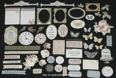 Kaisercraft 'ROMANTIQUE' Collectables Die Cut Shapes Floral/Vintage KAISER
