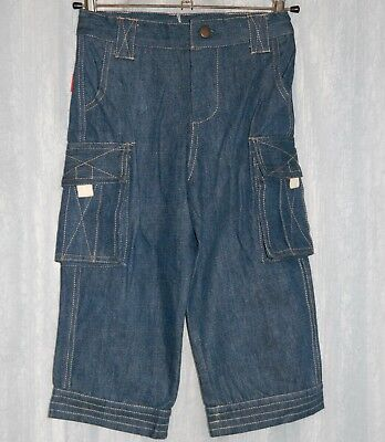 ** NEW ** RHUBARB Kids Blue Cargo Jeans Size 2-3 years Boy Girl Unisex
