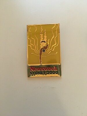 Sydney Olympics 2000 Newsweek swimming badge  M19