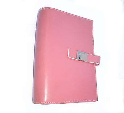 Kenneth Cole Reaction Pink Compact Open Binder Planner Leather-like
