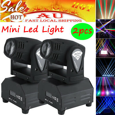 2Pcs 50W Minin LED Moving Head Stage Light Beam RGBW DMX Strobe 11/13CH Bright