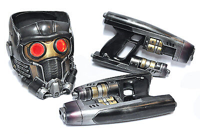 Star Lord Helmet and Blasters COMBO Guardians Of The Galaxy Prop Costume Cosplay