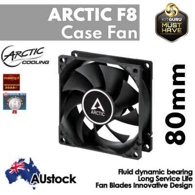 Arctic Cooling F8 Low Noise Quiet 80mm Efficient Fluid Bearing PC Case Fan 3-Pin
