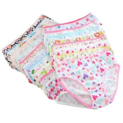 6pcs Baby Girls Underpants Soft Cotton Panties Kids Child Underwear Short Briefs