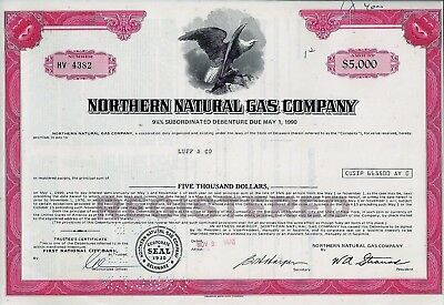 Northern Natural Gas Company, 1970,  9 3/4% Debenture due 1990 (5.000 $)