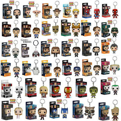 Funko Pocket Pop Keychain Groot, Hulkbuster ,Thanos ,Rocked Vinyl Figure Keyring