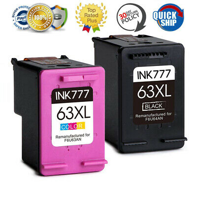 2X Ink for HP 63 63XL B&C HP ENVY 4510 4520 4512 4522 Officejet 3830 4650 3832