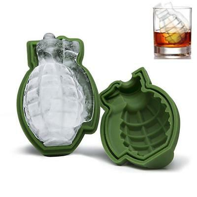 3D Grenade Shape Ice Cube Mold Maker Bar Party Silicone Trays Mold Gift Tool