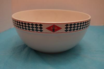 COCA COLA LARGE CERAMIC MIXING BOWL Gibson VINTAGE 2003 Diamond Pattern 9.25""