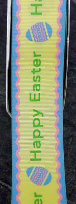 Easter-Ribbon-Grosgrain-Bows-1m or 2m- 38mm wide Yellow Cake ribbon cards C3