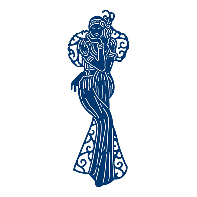 Tattered Lace ART DECO SITTING IN THE MOONLIGHT Cutting Die TLD0516 FREE UK P&P
