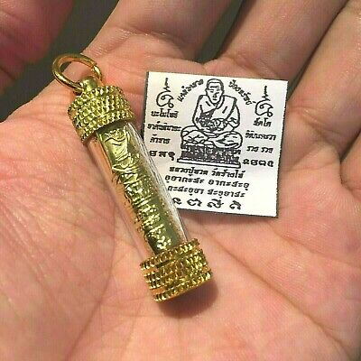 LP Thuad Takrut Thai Amulet Protection Defense Sacred Yant Luck Rich Wealth Holy