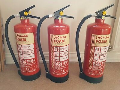 Chubb Foam Fire Extinguisher - 6 Litre - Maintained & Serviced Up to Date