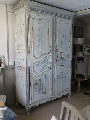 Vintage French Antique Wardrobe Rococo Armoire