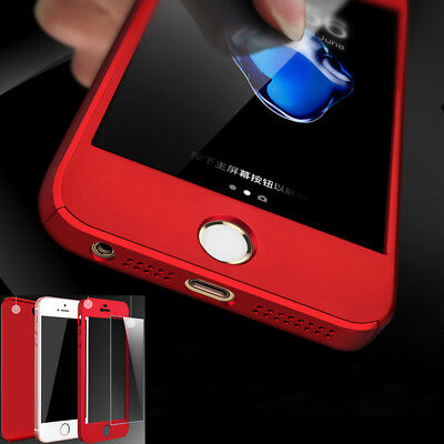 360 Full Protection Real Tempered Glass Cover Back Case Skins for iPhone 5 5s SE