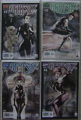 Nightside #1-4 Marvel Comics (4) Comic Complete Set 2001 NM High Grade Copies