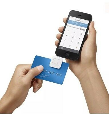 White Square Credit Card and Debit Card Reader for iPhone and Android Compatible