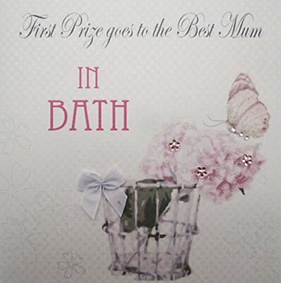 WHITE COTTON CARDS Best Mum in bagno, primo premio Goes to the best MUM (b3U)