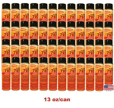 QTY48 Polymat 797 Hi-Temp Spray Can Glue Adhesive BONDS FLEXIBLE FOAM TO FABRIC