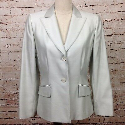 Tahari Women S Dress Coat Size 8 Silk Wool Blend 2 Button Jacket