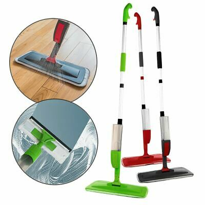 2 In 1 Spray Floor Mop Microfibre Home Window Cleaner Tiles Marble Laminate