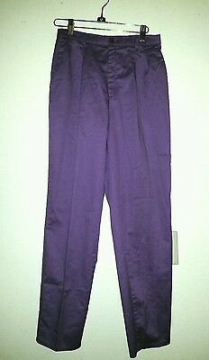 Vtg Purple LEVI'S Sportwear Size 8 Colored Pants Pleated Front Pockets md in USA