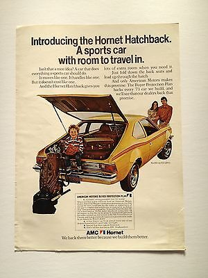 1973 AMC Hornet Hatchback Original Print Ad American Motors Automobile