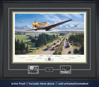 Nicolas Trudgian Band of Brothers WWII P-51 Autographed 10 signature Art Print!